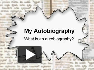 ppt my autobiography powerpoint presentation free to download