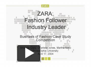 case study fast fashion