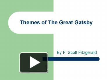 ppt themes of the great gatsby powerpoint presentation free to