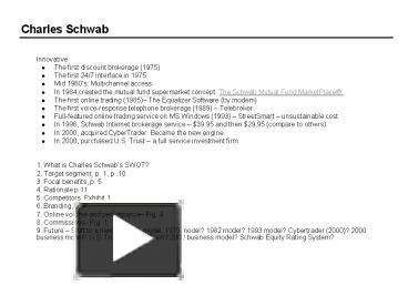 charles schwab swot analysis