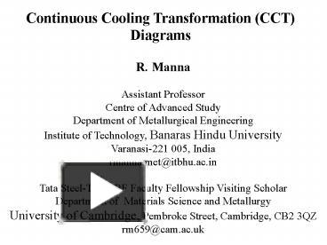Ppt continuous cooling transformation cct diagrams powerpoint ppt continuous cooling transformation cct diagrams powerpoint presentation free to download id 3fd0b1 ntizz ccuart Choice Image