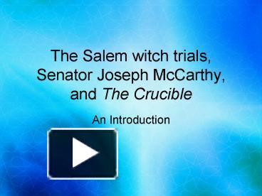 mccarthy and salem trials