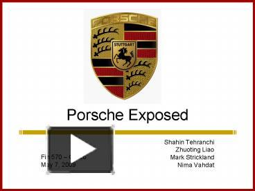 porsche hedging strategy Porsche exposed porsche exposed in your opinion is porsche's current currency hedging strategy protecting it from adverse exchange rate changes.