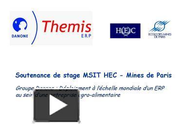 Ppt Soutenance De Stage Msit Hec Mines De Paris