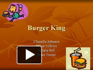 PPT – Burger King PowerPoint presentation | free to download