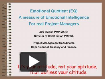 PPT – Emotional Quotient (EQ) PowerPoint presentation | free to view