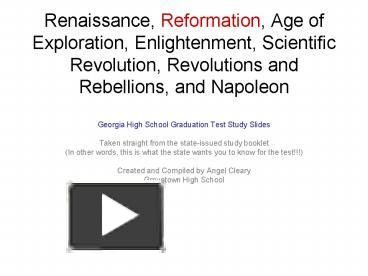 reformation scientific revolution exploration and enlightenment as extensions of renaissance humanis