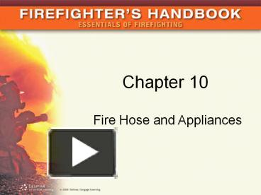 PPT – Fire Hose and Appliances PowerPoint presentation