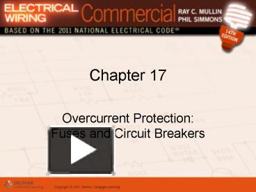 PPT – Overcurrent Protection: Fuses and Circuit Breakers PowerPoint