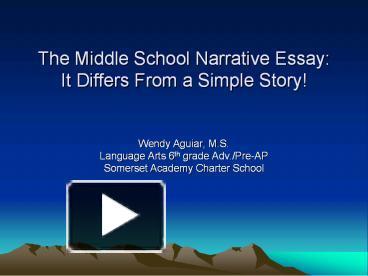 descriptive essays for middle school