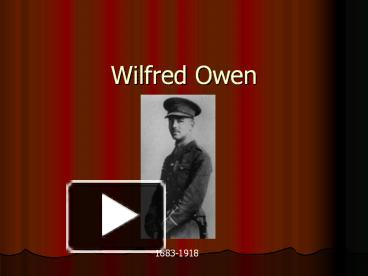 wilfred owen early life