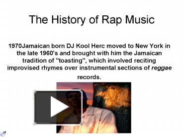 the history of rap A documentary on rap music and its rise to global prominence imdb something from nothing: the art of rap (2012) clear your history recently viewed.