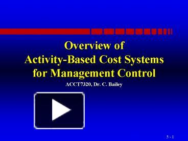activity based management an overview Sas cost and profitability management, sas activity-based management product page on the support site has the latest news, samples, downloads, support information, training, and documentation.