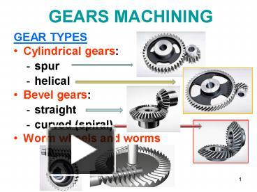 PPT – GEARS MACHINING PowerPoint presentation | free to view - id