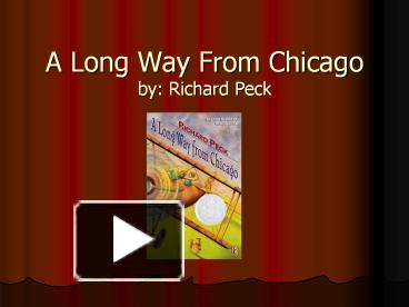 A Long Way from Chicago Summary & Study Guide