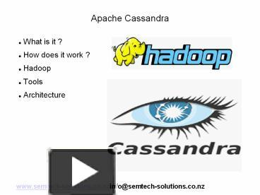 PPT U2013 An Introduction To Apache Cassandra PowerPoint Presentation | Free To  Download   Id: 41c436 YWM1Y