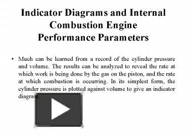 ppt – indicator diagrams and internal combustion engine performance  parameters powerpoint presentation | free to download - id: 41d978-zgu5y