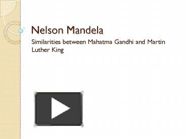 similarities between mandela and gandhi