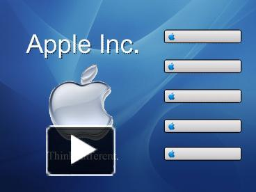 ppt – apple inc' powerpoint presentation | free to view - id, Modern powerpoint