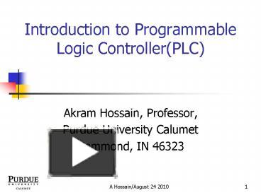 PPT – Introduction to Programmable Logic Controller(PLC