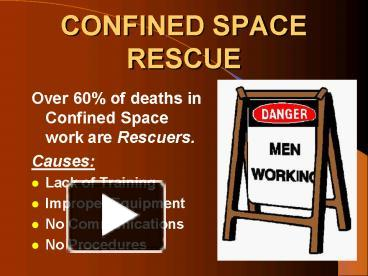 Confined space awareness training ppt download.