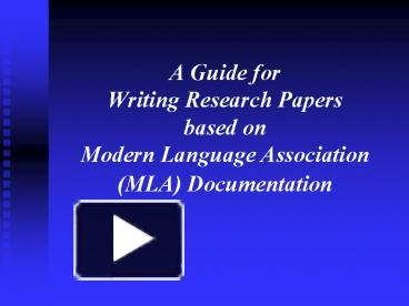 a guide for writing research papers based on apa documentation Apa documentation  •finally, if you're writing a paper in apa style for a course  at-risk minority populations in a church-based.