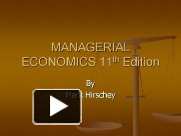 managerial economics by mark hirschey