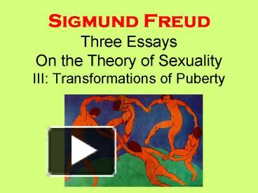 Glamour AudioBook   Sigmund Freud   Three Contributions to the Theory of Sex AbeBooks
