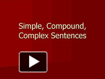 Printables Quiz On Types Of Sentences Simple Compound Complex Compound-complex ppt simple compound complex sentences powerpoint presentation free to download id 43bc0e nziyz