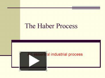 haber process simulation