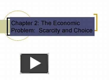 problem of scarcity and choice