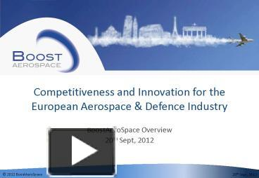 an introduction of the european aerospace industry The eu aerospace sector is rising as the most high tech sector in european union the european aeronautic industry is a multifaceted industry involved in development and manufacturing of.