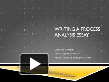 explaining a complex process essay