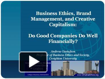 business ethics capitalism