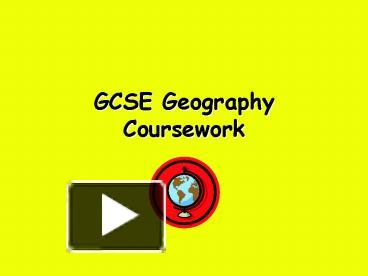 geography coursework help