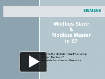 PPT – Modbus Slave PowerPoint presentation | free to