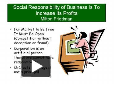 the social responsibility of business is to increase its profits Sustainability & corporate social responsibility in  responsibility of business is to increase its profits was  coursera provides universal.
