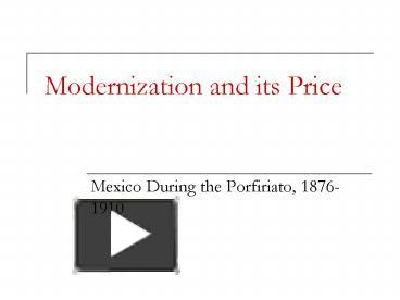 the legacy of the porfiriato in mexico After the storm the swept mexico it is worth analyzing the effects of the legacy of the revolution in today after the porfiriato, mexico was not able to.