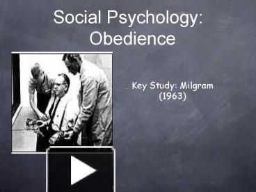 milgram psychology 12 marks Obedience, power, and leadership power over students because they can assign students high marks journal of social psychology, 16, 311–324 milgram, s.