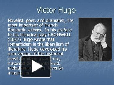 PPT – Victor Hugo PowerPoint presentation   free to download - id   45db9b-ODIzY a0ee72c11a