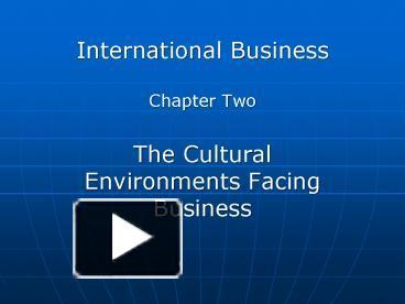 international business ch