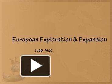 motives for european expansion