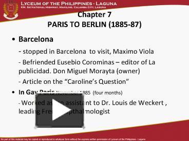 Ppt chapter 7 paris to berlin 1885 87 powerpoint presentation ppt chapter 7 paris to berlin 1885 87 powerpoint presentation free to view id 46841a y2u3o toneelgroepblik Gallery