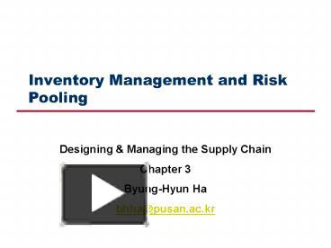 inventory pooling in supply chain