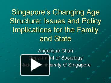 singapore's changing structure and the policy The goals are then used to structure policy initiatives and create benchmarks to measure progress as of 2003, singapore students are required to participate in six years of compulsory education although this is the least amount of required schooling in any of the top-performing countries, students in singapore almost universally choose to.