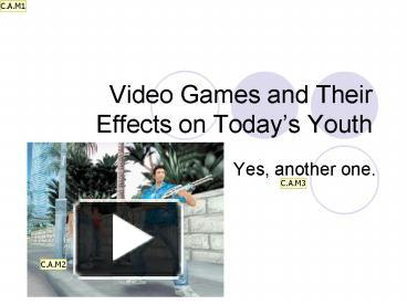 video game's and their effect on
