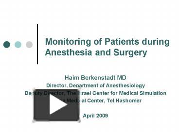 Patient Monitor Ppt