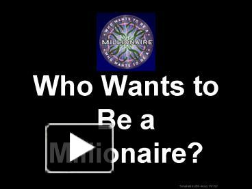 ppt – who wants to be a millionaire powerpoint presentation | free, Powerpoint templates