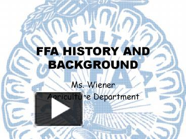 Ppt ffa history and background powerpoint presentation free to ppt ffa history and background powerpoint presentation free to download id 4751a0 zjkzz ibookread Download
