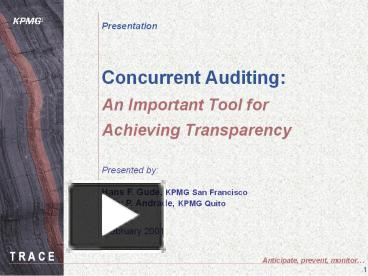 PPT – Concurrent Auditing: An Important Tool for Achieving